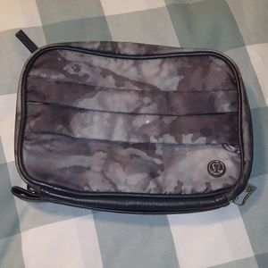 Gray camo print Lululemon travel bag
